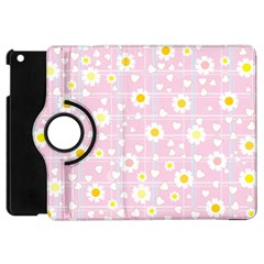 Flower Floral Sunflower Pink Yellow Apple Ipad Mini Flip 360 Case by Mariart