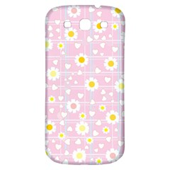 Flower Floral Sunflower Pink Yellow Samsung Galaxy S3 S Iii Classic Hardshell Back Case by Mariart