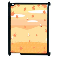 Dragonfly Leaf Orange Apple Ipad 2 Case (black) by Mariart