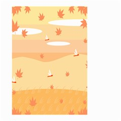 Dragonfly Leaf Orange Small Garden Flag (two Sides) by Mariart