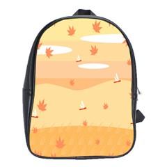 Dragonfly Leaf Orange School Bags (xl)  by Mariart