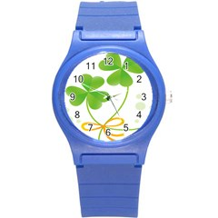 Flower Floralleaf Green Reboon Round Plastic Sport Watch (s) by Mariart