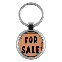 For Sale Sign Black Brown Key Chains (round)  by Mariart