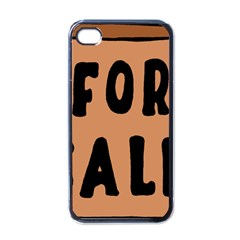 For Sale Sign Black Brown Apple Iphone 4 Case (black) by Mariart