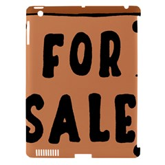 For Sale Sign Black Brown Apple Ipad 3/4 Hardshell Case (compatible With Smart Cover) by Mariart
