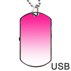 Gradients Pink White Dog Tag Usb Flash (one Side) by Mariart