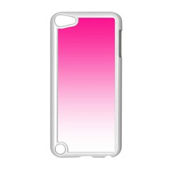 Gradients Pink White Apple Ipod Touch 5 Case (white) by Mariart