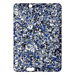 Electric Blue Blend Stone Glass Kindle Fire Hdx Hardshell Case by Mariart