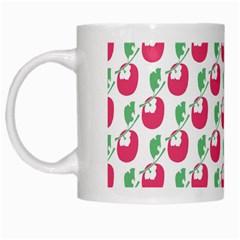 Fruit Pink Green Mangosteen White Mugs by Mariart