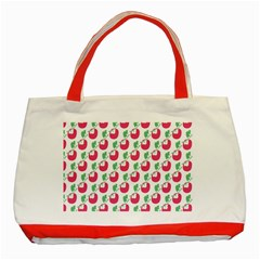 Fruit Pink Green Mangosteen Classic Tote Bag (red) by Mariart