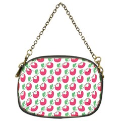 Fruit Pink Green Mangosteen Chain Purses (two Sides)  by Mariart