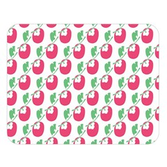 Fruit Pink Green Mangosteen Double Sided Flano Blanket (large)  by Mariart
