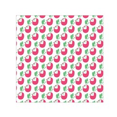 Fruit Pink Green Mangosteen Small Satin Scarf (square) by Mariart