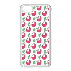 Fruit Pink Green Mangosteen Apple Iphone 7 Seamless Case (white) by Mariart