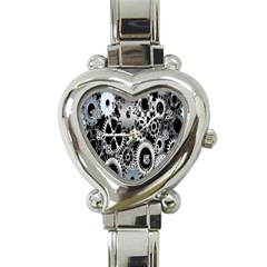 Gears Technology Steel Mechanical Chain Iron Heart Italian Charm Watch by Mariart