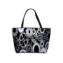 Gears Technology Steel Mechanical Chain Iron Shoulder Handbags by Mariart