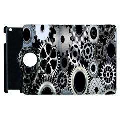 Gears Technology Steel Mechanical Chain Iron Apple Ipad 3/4 Flip 360 Case by Mariart