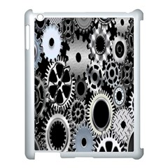 Gears Technology Steel Mechanical Chain Iron Apple Ipad 3/4 Case (white) by Mariart