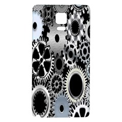 Gears Technology Steel Mechanical Chain Iron Galaxy Note 4 Back Case by Mariart