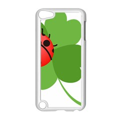 Insect Flower Floral Animals Green Red Apple Ipod Touch 5 Case (white) by Mariart