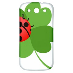 Insect Flower Floral Animals Green Red Samsung Galaxy S3 S Iii Classic Hardshell Back Case by Mariart