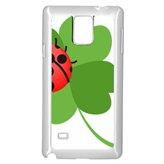 Insect Flower Floral Animals Green Red Samsung Galaxy Note 4 Case (white) by Mariart