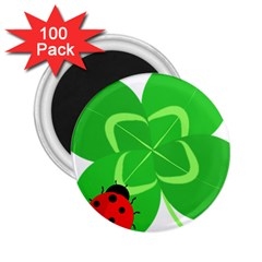 Insect Flower Floral Animals Green Red Line 2 25  Magnets (100 Pack)  by Mariart
