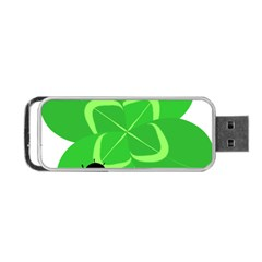 Insect Flower Floral Animals Green Red Line Portable Usb Flash (two Sides) by Mariart