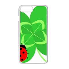 Insect Flower Floral Animals Green Red Line Apple Iphone 7 Plus White Seamless Case by Mariart