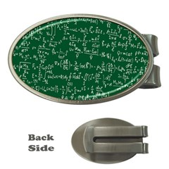 Formula Number Green Board Money Clips (oval)  by Mariart