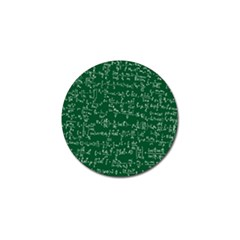 Formula Number Green Board Golf Ball Marker (4 Pack) by Mariart