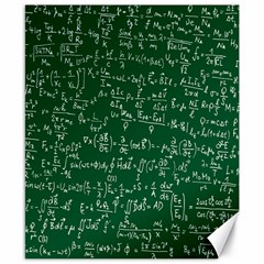 Formula Number Green Board Canvas 8  X 10  by Mariart