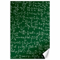 Formula Number Green Board Canvas 12  X 18   by Mariart
