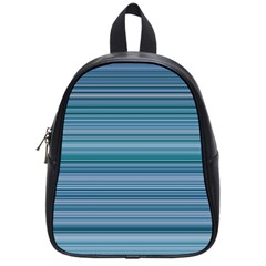 Horizontal Line Blue School Bags (small)  by Mariart