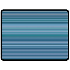 Horizontal Line Blue Double Sided Fleece Blanket (large)  by Mariart