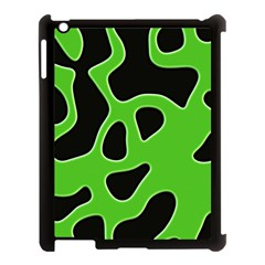 Abstract Shapes A Completely Seamless Tile Able Background Apple Ipad 3/4 Case (black) by Nexatart