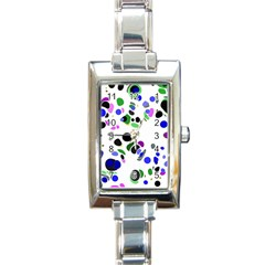 Colorful Random Blobs Background Rectangle Italian Charm Watch by Nexatart