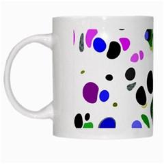 Colorful Random Blobs Background White Mugs by Nexatart