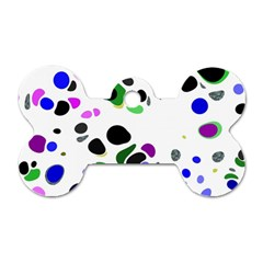 Colorful Random Blobs Background Dog Tag Bone (two Sides) by Nexatart