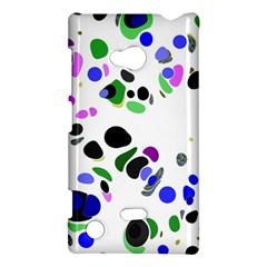 Colorful Random Blobs Background Nokia Lumia 720 by Nexatart