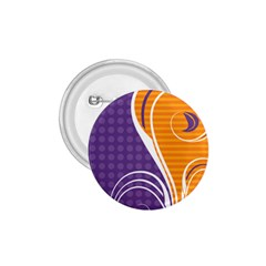 Leaf Polka Dot Purple Orange 1 75  Buttons by Mariart