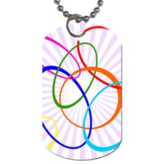 Abstract Background With Interlocking Oval Shapes Dog Tag (two Sides)