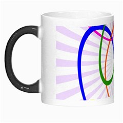 Abstract Background With Interlocking Oval Shapes Morph Mugs by Nexatart
