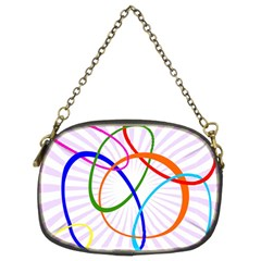 Abstract Background With Interlocking Oval Shapes Chain Purses (two Sides)  by Nexatart