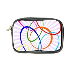 Abstract Background With Interlocking Oval Shapes Coin Purse by Nexatart