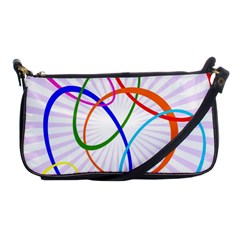 Abstract Background With Interlocking Oval Shapes Shoulder Clutch Bags by Nexatart