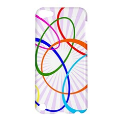 Abstract Background With Interlocking Oval Shapes Apple Ipod Touch 5 Hardshell Case by Nexatart