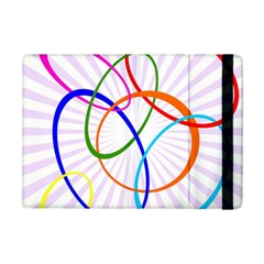 Abstract Background With Interlocking Oval Shapes Ipad Mini 2 Flip Cases by Nexatart