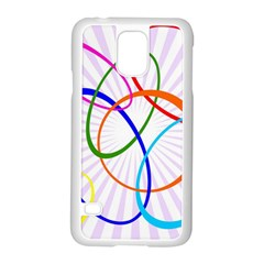 Abstract Background With Interlocking Oval Shapes Samsung Galaxy S5 Case (white) by Nexatart