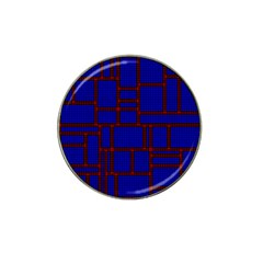Line Plaid Red Blue Hat Clip Ball Marker by Mariart